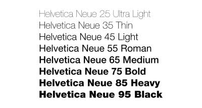 Family Font Design in The Font's Family